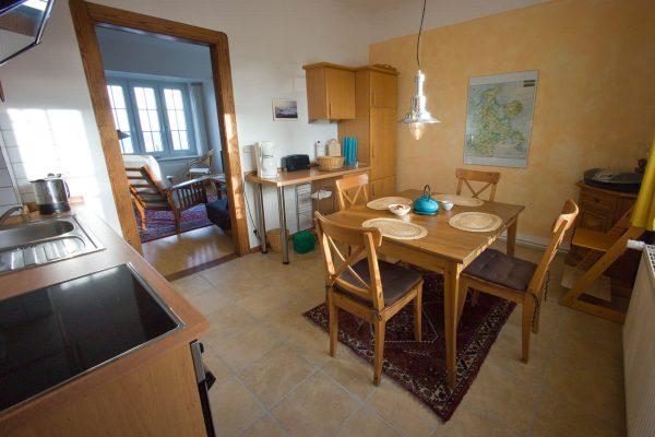 Küche der Ferienwohnung im Kapitänshaus Trost in Lohme auf Rügen