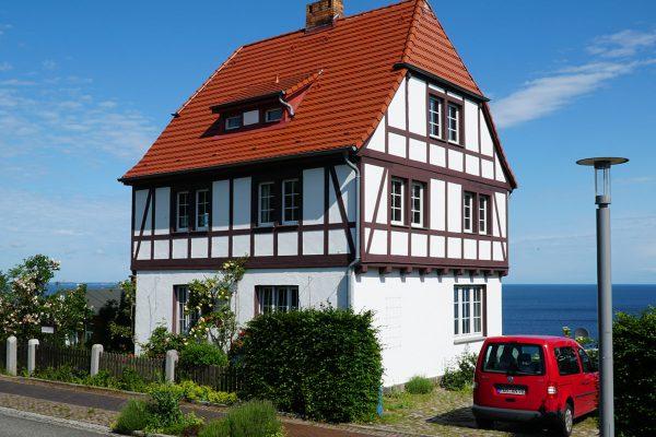 Meerblick vom Kapitänshaus Trost in Lohme auf Rügen